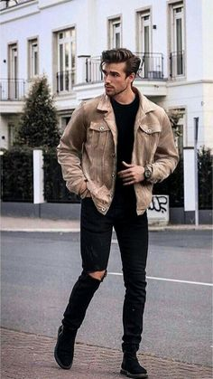 Men's Outfits mens fashion outfit ideas to impress any girl mens Men's Outfits. Here is Men's Outfits for you. Men's Outfits 31 mens style outfits every guy should look at for. Stylish Mens Outfits, Casual Outfits, Men Casual, Casual Styles, Casual Fall, Smart Casual, Best Winter Outfits Men, Casual Wear, Hipster Outfits Men