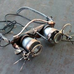 Steampunk Goggles Glasses  lenses loops by oldjunkyardboutique