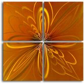 "Found it at Wayfair - ""Spirographic Flower on Tiles"" 4 Piece Contemporary Handmade Metal Wall Art Set"