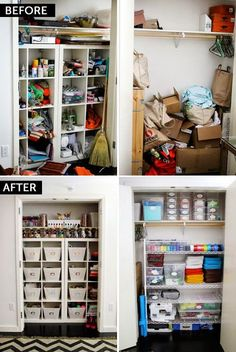 Before u0026 After The Ultimate Craft Closet. Could do this in the toy room and guest bedroom! & 9 Craft Room Makeover Ideas | Organizing Ideas | Pinterest | Closet ...