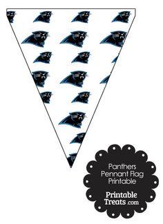 Carolina Panthers Logo Pennant Banners from PrintableTreats.com