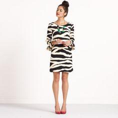 """Andorra"" dress, Kate Spade, zebra print"