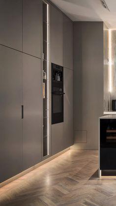 156 modern luxury kitchen design ideas that will inspire you 43 Luxury Kitchen Design, Kitchen Room Design, Home Room Design, Home Decor Kitchen, Interior Design Living Room, Kitchen Designs, Kitchen Ideas, Kitchen Inspiration, Interior Modern
