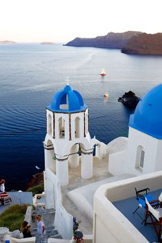 Blue dome church, Oia, Santorini
