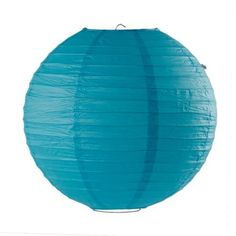 "14"" Blue Round Chinese Paper Lantern Lamp Wedding Party Decoration by Crazy Cart. $0.59. Features: 1. The lantern is ideal for creating a warm   atmosphere 2. Perfect for festivals, parties, wedding, or decorations in the   house or office 3. Can be used with or without light and collapse flat so you   can store them easily when not in use 4. Wire frame included for hanging. No   electrical cords or bulbs included  Specifications: 1.   Material: paper 2. Size: 14.0"" x 13...."