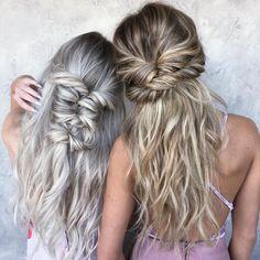 "3,469 Likes, 30 Comments - Chrissy Rasmussen (@hairby_chrissy) on Instagram: ""braided besties  | by #hairby_chrissy & @taylor_lamb_hair @kendyhyzdu @savannahmclain"""
