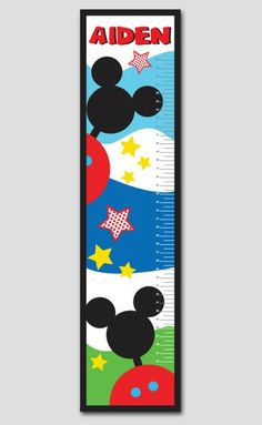 Mickey Mouse Clubhouse Growth Chart- Vinyl Print, Growth Charts for Boys, Nursery and Childen Decor on Etsy, $64.95