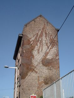Traces Of An Old Painted Billboard in Brussels