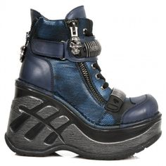 effb0b20c728 M.SP0002-S2 New Rock Blue Leather Neo Cuna Sport Ankle Boots