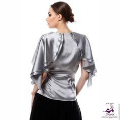 Блузки ручной работы. Роскошная шелковая блузка КАСКАД  в разных цветах на любой размер. АННА СЕРДЮКОВА (Дом Моды SEANNA). Ярмарка Мастеров.