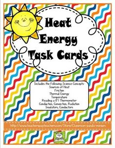 These task cards are great for Georgia Third Grade teachers or any teacher that teaches heat energy. Task cards are great for differentiation, groups, and centers. You can also use them for review right before a test. Just play SCOOT with one set of cards or make one set per group of students.