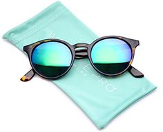 WearMe Pro Classic Small Round Retro Sunglasses, Tortoise Frame /Mirror Green Lens: Throw on a unique retro style with these round plastic sunglasses. They come with UV 400 protected dark tinted lenses for a clear view and ultimate protection! Summer Sunglasses, Retro Sunglasses, Cat Eye Sunglasses, Mirrored Sunglasses, Sunglasses Women, Cute Glasses, Thing 1, Polarized Sunglasses, Vintage Men