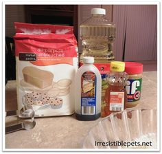 """Recipe for making your own dog cakes.  No expensive """"dog cake mix"""" needed!"""