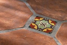 12x12 Rustic Octagon Cotto Gold with 4x4 Malibu Tile