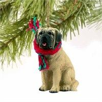 Mastiff Tiny One Christmas Ornament: Deck your halls and trim your tree with this sweet and colorful… #PetProducts #PetGifts #AnimalJewelry