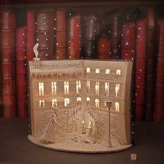 Cadeau Creatief met papier (huis met verlichting)