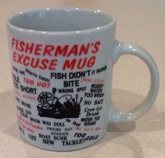 Fisherman's Excuse Coffee Mug Cup