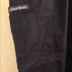 BNWT Black Cherokee Scrub Bottoms Brand new black Cherokee bottoms. Bit of a flare at the bottoms. Pocket on right pant leg (cargo type style). Elastic waist band. Wrong size for me, so need to get rid of them! Make me an offer! Size medium. Comment with questions! Cherokee Pants Straight Leg