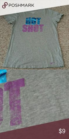 """🆕 Nike T ⛔LOWEST PRICE UNLESS BUNDLED⛔  Excellent used condition. No holes. No stains. No pilling. """"Wear"""" on lettering is the design and not considered a flaw.  Tag lists this as a large, but fits like an oversized small. Tag lists this as a Slim fit.  Armpit to armpit is 17 inches Top to hem 24 inches Sleeves 6 inches  ❌no trades ❌No modeling ❌No holds 3 Nike Tops Tees - Short Sleeve"""