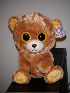 "Rare Beanie Boos | Ty HONEY the 9"" Bear Beanie Boos Boo's ~ MWMT ~ 2012 ~ RARE RETIRED"