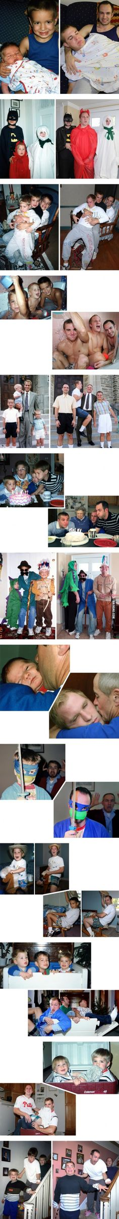 Three Brothers Perfectly Recreated Their Awkward Childhood Photos As A Gift To Their Mom