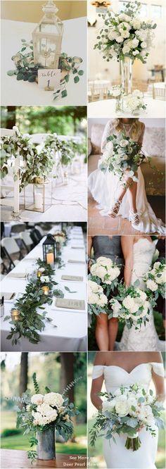 Eucalyptus green wedding color ideas /