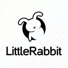 Animal Logo Design of a black bunny or rabbit comming out from a dark hole For Sale On StockLogos   Little Rabbit logo