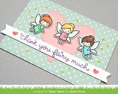 Featuring Lawn Fawn's Fairy Friends stamp set SKU 446399, available at www.addictedtorubberstamps.com