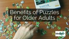 Puzzles can have many benefits for older adults, including those who have memory loss from dementia.