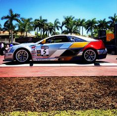 Our V Racecar #5 onsite at Doral #CadillacChamp #CadillacOfShots #VRacing #Cars #Golf