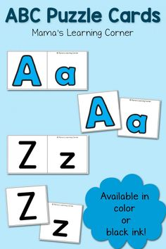 Free ABC Puzzle Cards for your preschooler!