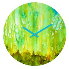 Rosie Brown Forest Glow Round Clock | DENY Designs Home Accessories   #clock #time #wall #homedecor #denydesigns #art #abstract #wallclock