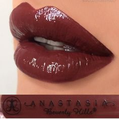"""Rum"" lip gloss from the Fall Gloss Set @glamours_by_nat  #anastasiabeverlyhills #abhgloss"