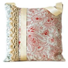 Crocheted lace lavender bag by NutmegandSage on Etsy
