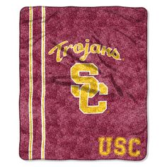"USC OFFICIAL Collegiate, ""Jersey"" 50""x 60"" Sherpa Throw by The Northwest Company"