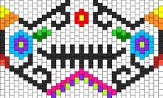 sugar skull kandi mask pattern | pattern bead counts and size may be wrong for kandi designer patterns ...