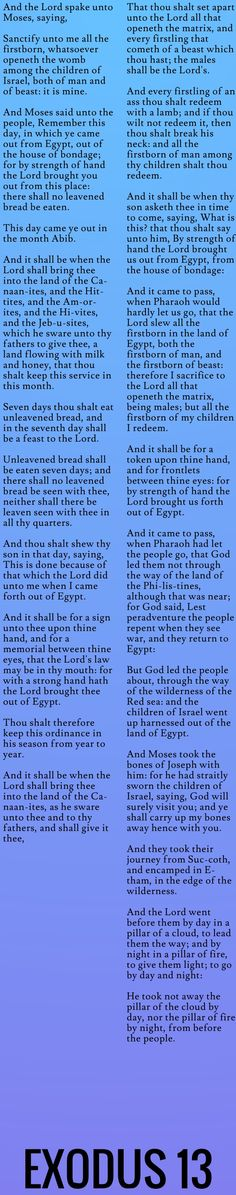 But God led the people about, through the way of the wilderness of the Red sea: and the children of Israel went up harnessed out of the land of Egypt...Exodus 13 (KJV)