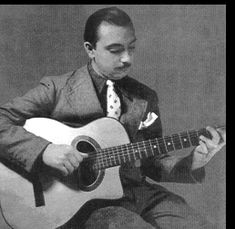 Django Reinhardt has astounded and thrilled numerous generations of guitar players and jazz lovers with his amazing command of the guitar. January 24th, 1910 at Liberchies Belgium, Django was born into the open air, rambling lifestyle of his gypsy parents
