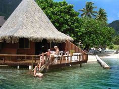 Club Bali Hai, Cooks Bay, Moorea, Tahiti...I LOVED this overwater bungalow - such a cool place and interesting history!!