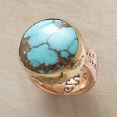 TURQUOISE TESTAMENT RING $1,600.00