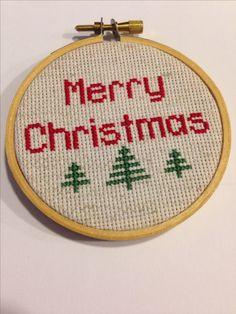Christmas decoration I cross stitched...