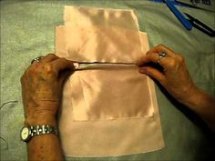 A class demo for my students at Art Center College of Design. Making a welt pocket for the Project 1 - IPAD BAG Sewing Tutorials, Sewing Patterns, Sewing Tips, Sewing Ideas, Tailoring Techniques, Sewing Techniques, Sewing Pants, Welt Pocket, Handmade Crafts