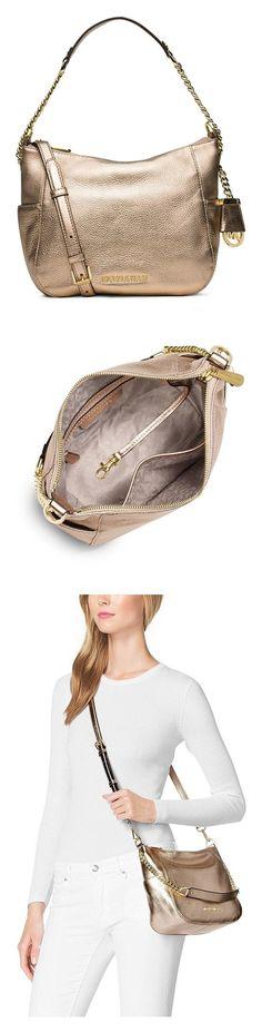5572be5f882f Cross-Body Bags ·  262.51 - Michael Kors Gold Chandler Medium Metallic  Leather Shoulder Bag  michaelkors