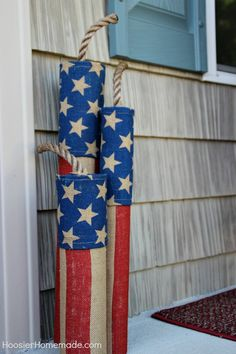 4th of July Front Porch Decorating Ideas | on HoosierHomemade.com