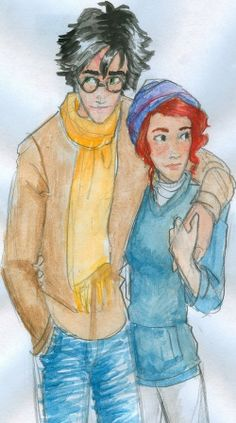 Harry and Ginny. Burdge's artwork