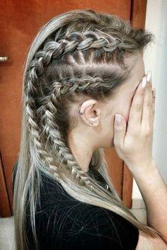 Vikings Lagertha Inspired Hair Tutorial ★ See more: http://lovehairstyles.com/vikings-lagertha-inspired-hair-tutorial/