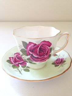 English Bone China Colclough Tea Cup and Saucer by MariasFarmhouse