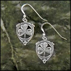 Sterling Silver Shamrock Earrings SW3165