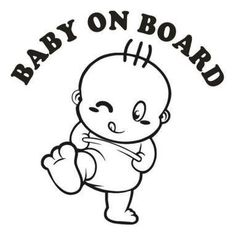 Baby On Board Cute Car Stickers And Decals Motorcycle Car Styling Accessories Black Sliver white and so on Car Decals, Vinyl Wall Decals, Bumper Stickers, Sticker Vinyl, Vehicle Decals, Silhouette Cameo Projects, Silhouette Design, Vinyl Crafts, Vinyl Projects
