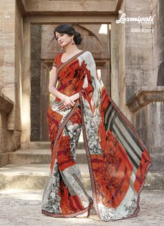 This georgette saree gives fabulous look to all the women, Beauty has no age !
